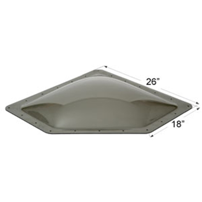 "Picture of Icon  Smoke 12""x24"" RO 15""x28"" Flange Neo Angle Skylight 12081 22-0034"