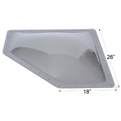 "Picture of Icon  Smoke 13""x30"" RO 16""x34"" Flange Neo Angle Skylight 12111 22-0035"