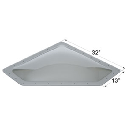 "Picture of Icon  Smoke 10""x28"" RO 13""x32"" Flange Neo Angle Skylight 12112 22-0036"