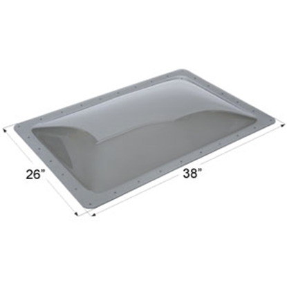 "Picture of Icon  Smoke 22""x34"" RO 26""x38"" Flange Skylight 12113 22-0037"
