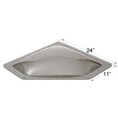 "Picture of Icon  Smoke 8""x20"" RO 11""x24"" Flange Neo Angle Skylight 12114 22-0038"