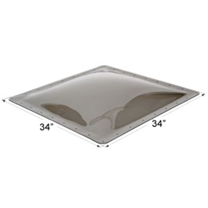 """Picture of Icon  Smoke 30""""x30"""" RO 34""""x34"""" Flange Skylight 12115 22-0039"""