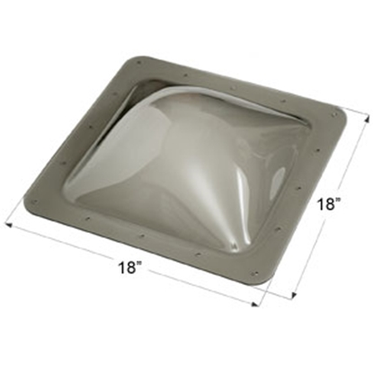 """Picture of Icon  Smoke 14""""x14"""" RO 18""""x18"""" Flange Skylight 12116 22-0040"""