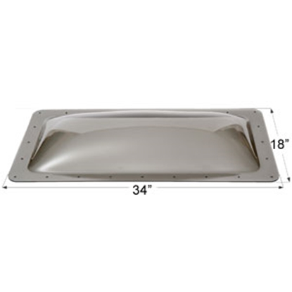 "Picture of Icon  Smoke 14""x30"" RO 18""x34"" Flange Skylight 12117 22-0041"