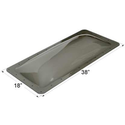 """Picture of Icon  Smoke 14""""x34"""" RO 18""""x38"""" Flange Skylight 12118 22-0042"""