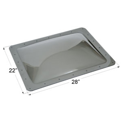 "Picture of Icon  Smoke 18""x24"" RO 22""x28"" Flange Skylight 12119 22-0043"