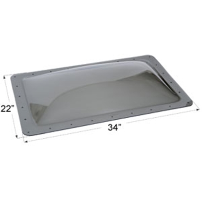 "Picture of Icon  Smoke 18""x30"" RO 22""x34"" Flange Skylight 12120 22-0044"