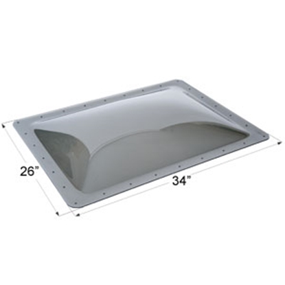 "Picture of Icon  Smoke 22""x30"" RO 26""x34"" Flange Skylight 12122 22-0046"