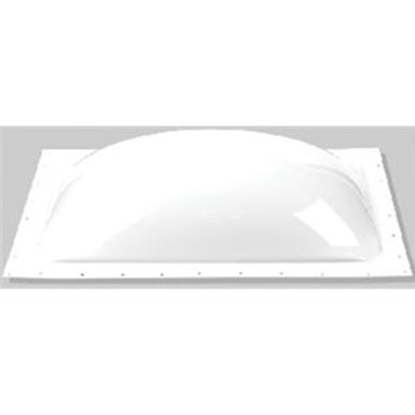 "Picture of Specialty Recreation  White 14""x14"" RO 18-1/2""x18-1/2"" Flange Skylight K1414W 22-0054"