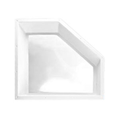 "Picture of Specialty Recreation  White 20""x8"" RO 22-1/2""x10"" Flange Neo Angle Skylight NN208D 22-0077"