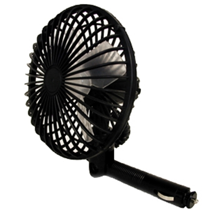 Picture of Prime Products  Black 12V 2-Speed Oscillating Table Top Fan 06-0501 22-0115