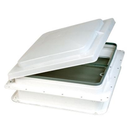 "Picture of Heng's  White 14""x14"" Plastic Frame Roof Vent V071101-C1G1 22-0156"