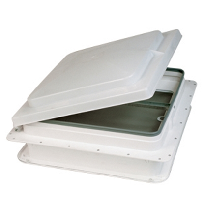 """Picture of Heng's  Smoke 14""""x14"""" Plastic Frame Roof Vent V074101-C1G1 22-0159"""