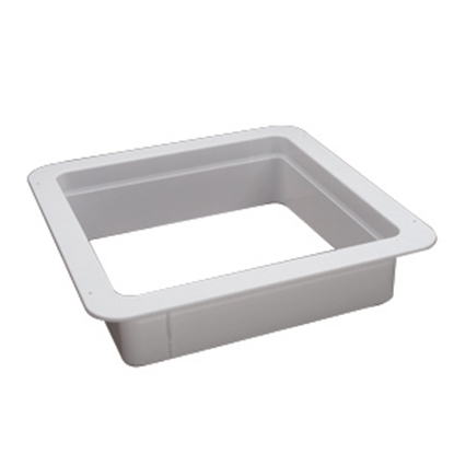 "Picture of Heng's  White 4"" Deep for 14""x14"" Opening Radius Roof Vent Garnish 90094B 22-0173"