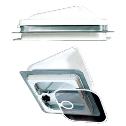 """Picture of Heng's  White 14""""x14"""" Metal Frame Roof Vent V771401-C1G1 22-0175"""