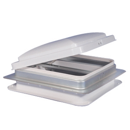 """Picture of Heng's  White 14""""x14"""" Metal Frame Roof Vent 71111-C1G1 22-0180"""