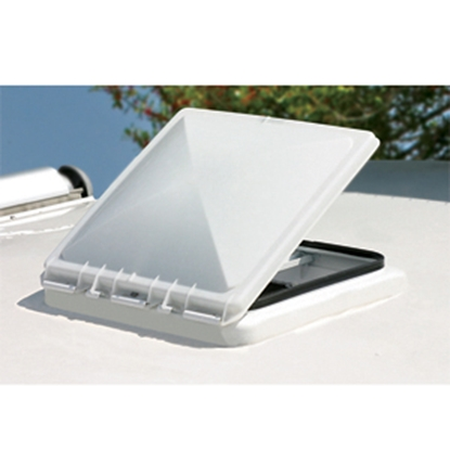 "Picture of Camco  White Polypropylene 14"" x 14"" Jensen Style Roof Vent Lid 40153 22-0199"