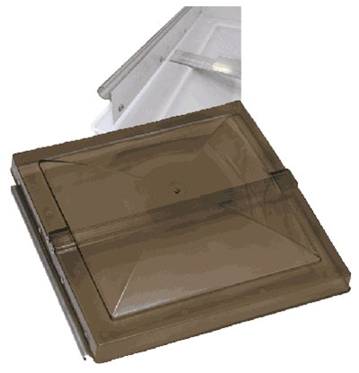 "Picture of Ventmate  Smoke Polypropylene 14"" X 14"" Old Elixir Style Roof Vent Lid 63118 22-0217"