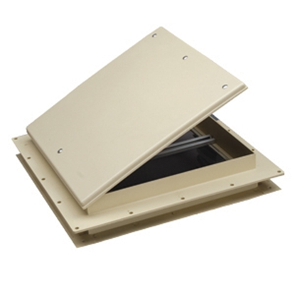 "Picture of Heng's  White 9""x9"" Plastic Frame Roof Vent 18511-C1G 22-0233"