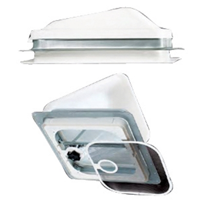 """Picture of Ventline  White Polypropylene 14"""" x 14"""" Roof Vent Lid BV0554-01 22-0235"""
