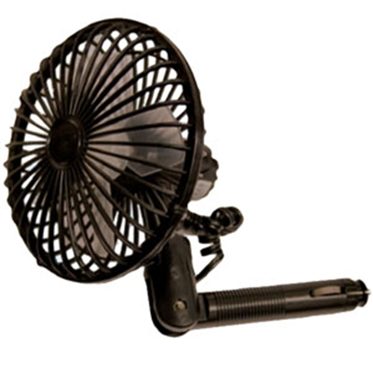 Picture of Prime Products  Black 12V 2-Speed Wall Mount or Clip-On Fan 06-0503 22-0265