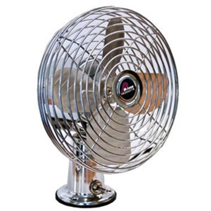 Picture of Prime Products  Chrome 12V 2-Speed Deck/ Ceiling Mount Fan 06-0852 22-0310