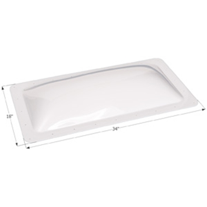 "Picture of Icon  White 14""x30"" RO 18""x34"" Flange Skylight 01849 22-0330"
