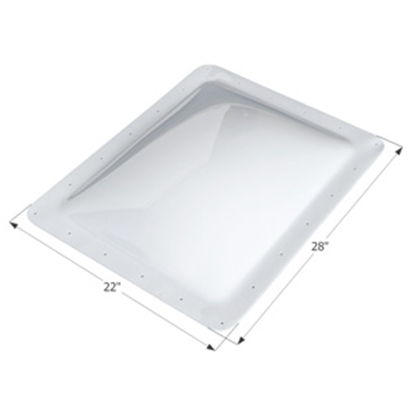 """Picture of Icon  White 18""""x24"""" RO 22""""x28"""" Flange Skylight 01853 22-0332"""