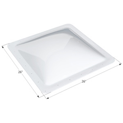 "Picture of Icon  Clear 22""x22"" RO 26""x26"" Flange Skylight 01856 22-0333"