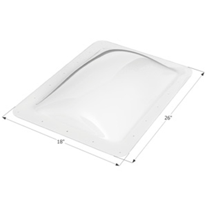 "Picture of Icon  Clear 14""x22"" RO 18""x26"" Flange Skylight 01820 22-0338"