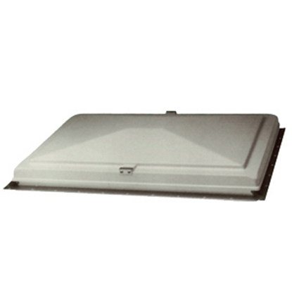 "Picture of Heng's  12"" x 22"" Manual White Exit Vent 66621-C2 22-0352"