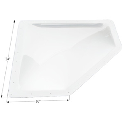 "Picture of Icon  White 13""x30"" RO 16""x34"" Flange Neo Angle Skylight 01871 22-0379"