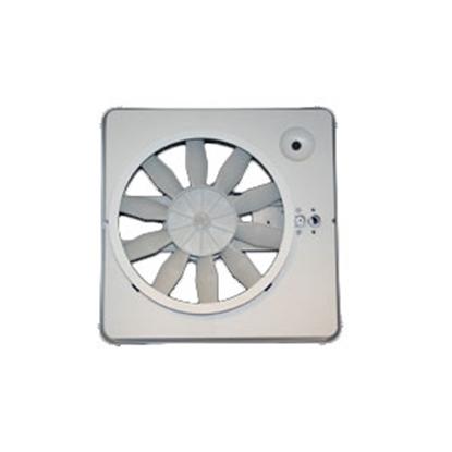 "Picture of Heng's  White 14""x14"" Plastic Frame Roof Vent w/Fan V071112-C1G1 22-0399"