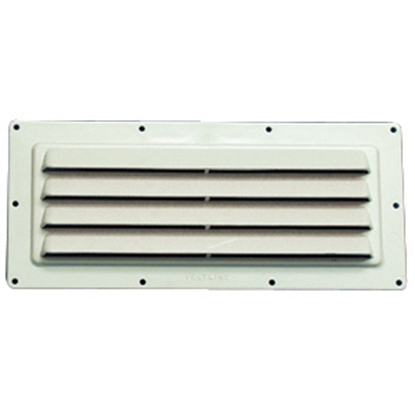 """Picture of Ventline  10-1/2"""" W x 3-3/4"""" H Colonial White Range Hood Vent V2018-02 22-0417"""