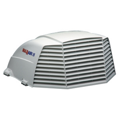 """Picture of MaxxAir Maxxair II (R) White 14""""x14"""" Roof Vent Cover 00-933072 22-0422"""