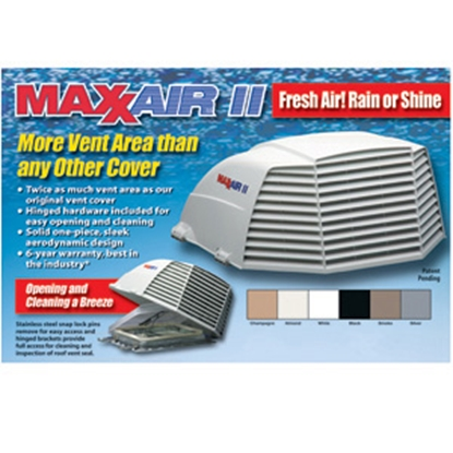 """Picture of MaxxAir Maxxair II (R) White/Almond 14""""x14"""" Roof Vent Cover 00-933074 22-0424"""