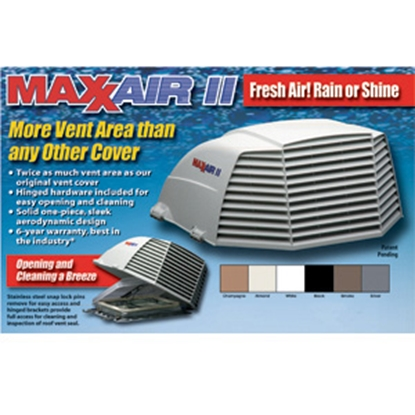 """Picture of MaxxAir Maxxair II (R) Black 14""""x14"""" Roof Vent Cover 00-933075 22-0425"""