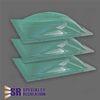 """Picture of Specialty Recreation  3-Pack Clear 14"""" x 22"""" RO / 17.5"""" x 25.5"""" Flange Skylight SP1422C 22-0438"""