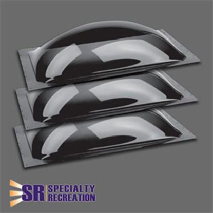 """Picture of Specialty Recreation  3-Pack Smoke 14"""" x 22"""" RO / 17.5"""" x 25.5"""" Flange Skylight SP1422S 22-0439"""