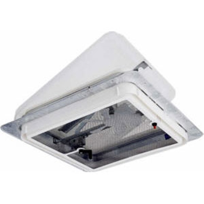 "Picture of Ventline  White 14.25""x14.25"" Polypropylene Frame Roof Vent w/Fan V2094SP-30 22-0440"