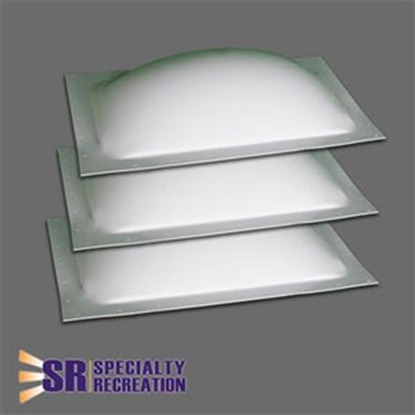 """Picture of Specialty Recreation  3-Pack White 14"""" x 22"""" RO / 17.5"""" x 25.5"""" Flange Skylight SP1422W 22-0441"""