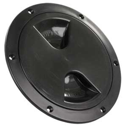"Picture of JR Products  Black 5-3/4""RO Lockable Cord And Fresh Water Compartment Access Door 31035 22-0536"