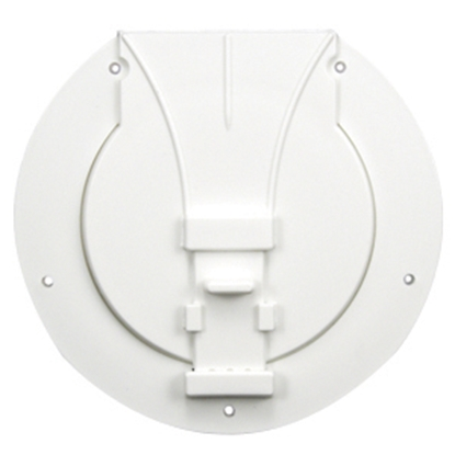 "Picture of JR Products  Polar White 3-27/32""RO Utility/ Awning Pole Storage Access Door S-25-10-A 22-0549"
