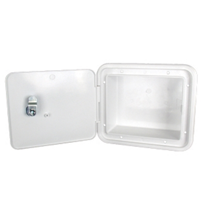 "Picture of JR Products  Polar White 5-7/8""RO Multi-Purpose Utility Hatch Access Door w/Back G8102-A 22-0550"