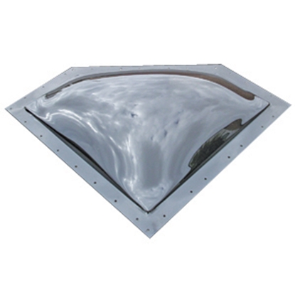 "Picture of Specialty Recreation  Clear 28""x10"" RO 32""x13"" Flange Neo Angle Skylight NSL2810C 22-0571"