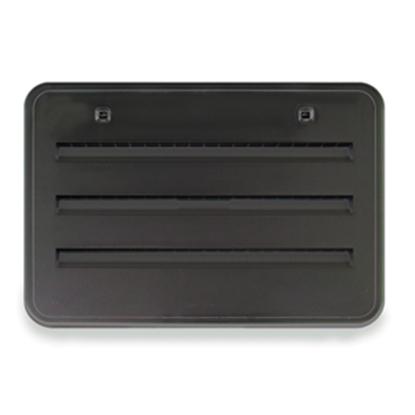 "Picture of Norcold  Black Plastic 21-1/2""W x 13-3/4""H Radius Refrigerator Side Vent 621156BK 22-0645"