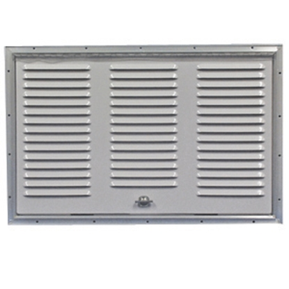 "Picture of Norcold  Polar White 21-3/4""W x 13-3/4""H Refrigerator Side Vent 616010PW 22-0682"