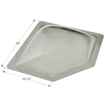"Picture of Icon  Smoke 14-1/4""x24"" RO 18-1/4""x28"" Flange Neo Angle Skylight 12144 22-6234"