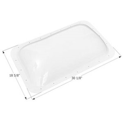 "Picture of Icon  White 15-3/4"" x 27"" RO 18-5/8"" x 30-1/8"" Flange Skylight 12156 22-6237"