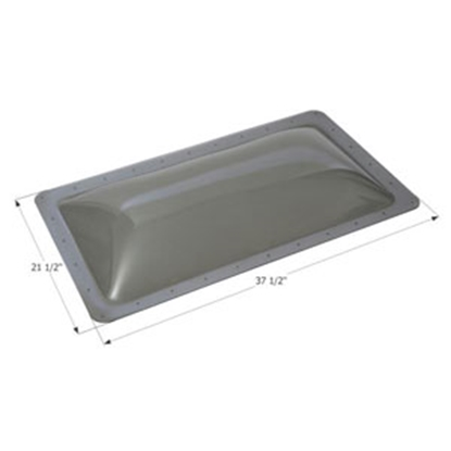 "Picture of Icon  Smoke 17-1/2""x33-1/2"" RO 21-1/2""x37-1/2"" Flange Skylight 12198 22-6238"